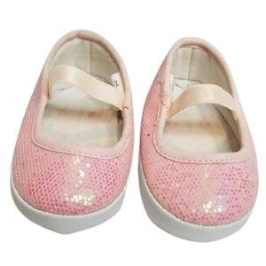 5/$25 - Baby Girl Pink Sparkle Slip On Crib Shoes